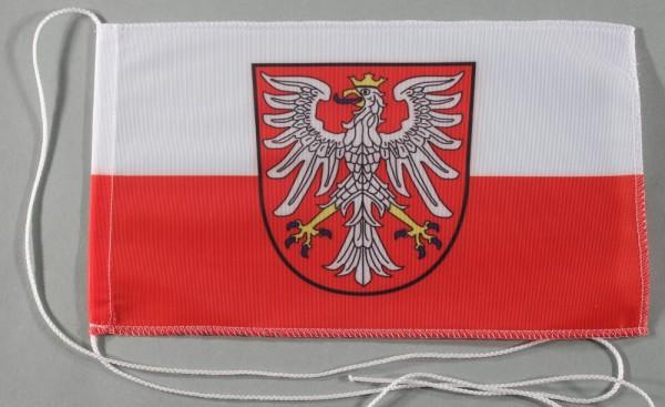 Tischflagge Frankfurt Stadtflagge 25x15 cm optional mit Holz- oder Chromständer Tischfahne Tischfähn