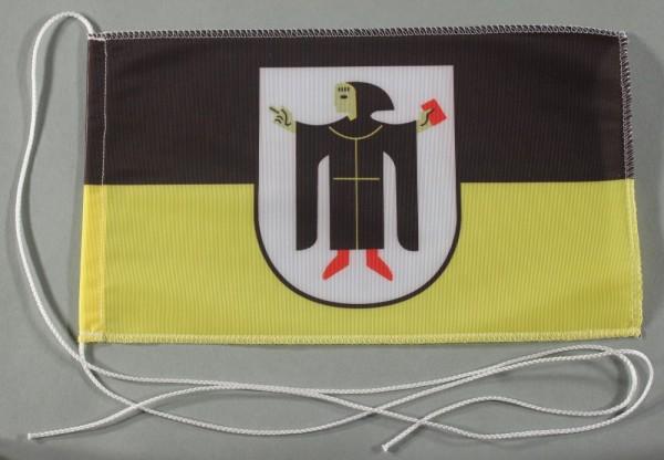 Tischflagge München Stadtflagge 25x15 cm optional mit Holz- oder Chromständer Tischfahne Tischfähnch