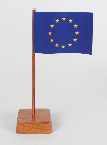 Mini Tischflagge Europa Höhe 13 cm Tischfähnchen