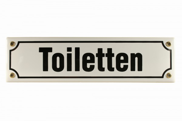 Strassenschild Toiletten 30x8 cm Email Tür Schild Emaille WC Türschild