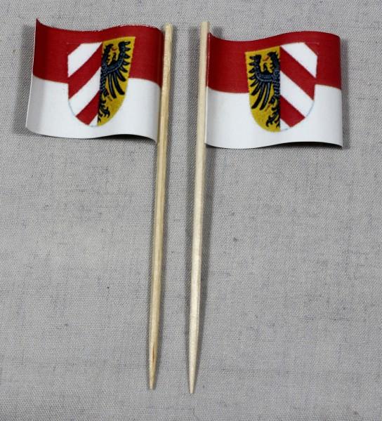 Party-Picker Flagge Nürnberg Papierfähnchen in Spitzenqualität 50 Stück Beutel