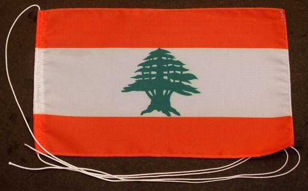 Tischflagge Libanon 25x15 cm optional mit Holz- oder Chromständer Tischfahne Tischfähnchen