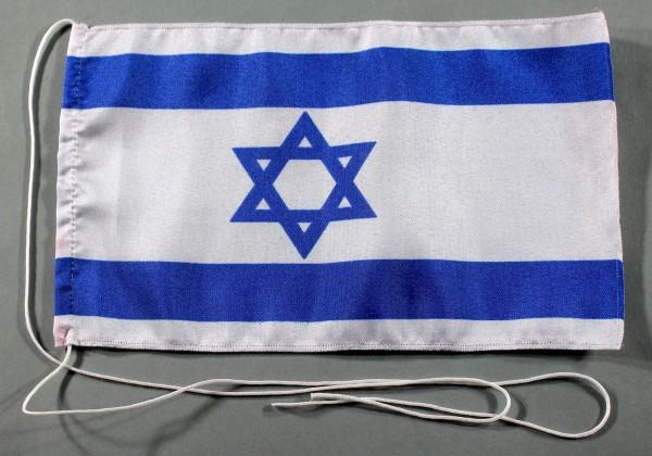 Tischflagge Israel 25x15 cm optional mit Holz- oder Chromständer Tischfahne Tischfähnchen