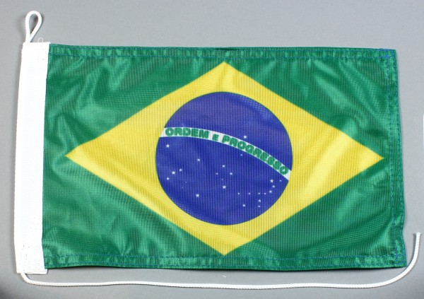 Bootsflagge : Brasilien 30x20 cm Motorradflagge