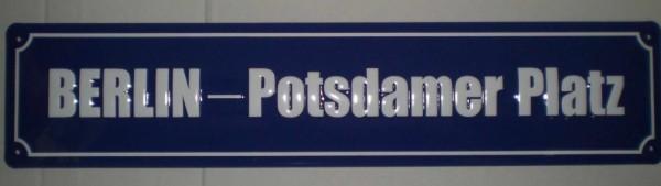 Strassenschild Berlin Potsdamer Platz aus Stahlblech 46x10 cm Schild Souvenir Andenken