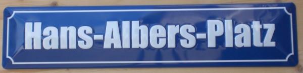 Strassenschild Hans Albers Platz Hamburg St. Pauli aus Stahlblech 46x10 cm Schild Souvenir Andenken